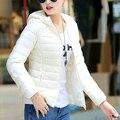 Winter Hooded Duck Down Jacket Women Goose Down Coat Female Down Parka Outerwear Slim Overcoat Ultra Light