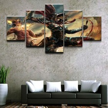 Demon Hunter Diablo III Game HD Print Picture Painting 5 Pieces Canvas Painting Wall Art Living Room Home Decor Picture Artwork