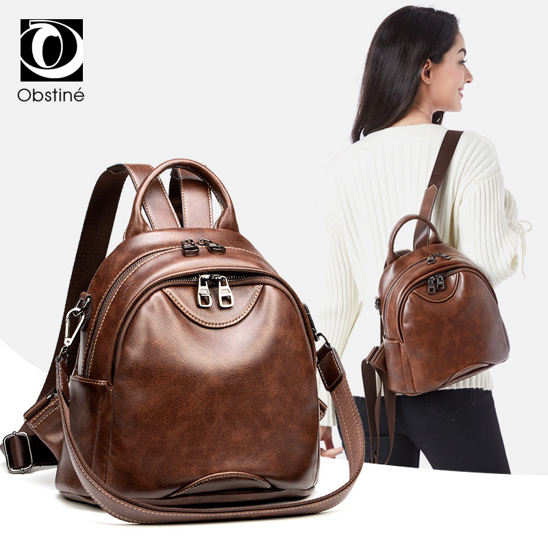 dacf929117ee Detail Feedback Questions about Luxury Small Backpack Women PU Leather Mini  Backpacks Bags for Girls Brown Female Shoulder Bag Casual Daypack Back Pack  ...