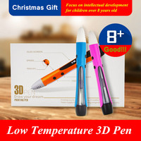 Birthday Present NEW 3D Painting Pen For Favorite Of Children DIY Graffiti Low Temperature 3D Pen