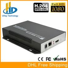 URay H264 H.264 1080 P HDMI Codificador H 264 HDMI Para IP UDP RTMP RTSP HLS Codificador Decodificador de Vídeo streaming De IPTV, Transmissão ao vivo