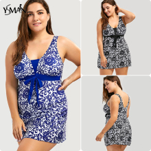 Bathing Suits Large size XL-5XL One Piece swimwear-women print floral women's suit push up swimsuit swimwear women plus size new