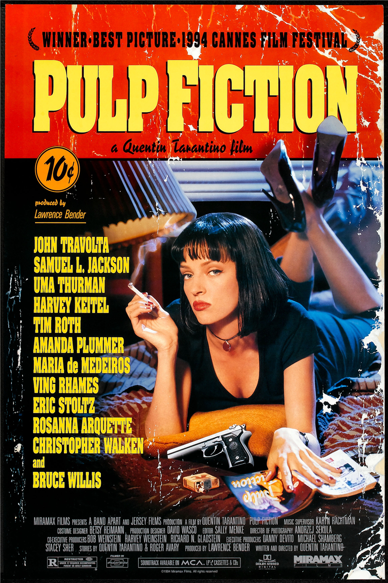 Free Shipping Custom Poster Nice Bedroom Decor Fashion Wall Sticker Well Design Classic Movie Pulp Fiction Wallpaper 0428 In Stickers From Home