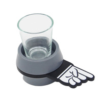 2017 New Creative Drinking Game Party Supplies Shot Spinner Glasses Bar Accessory Party Game Supplier Gift