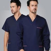 Surgical Clothing Korean High Quality 100 Cotton Doctor Scrub Sets Long Sleeve Hospital Work Wear Women