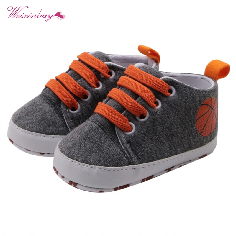 WEIXINBUY Baby Boys Girls Cross-tied Solid Shoes Cute Printing Soft Sole Anti-slip Fashion Shoes Sneakers Casual First Walker