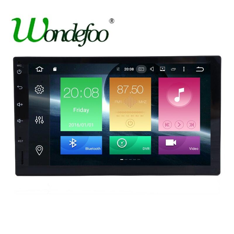 imágenes para 8 core octa-core RK3688 ROM 32G RAM 2G Android 6.0 radio de coche 2 Din coche Universal GPS sin pantalla táctil de navegación DVD de audio Estéreo
