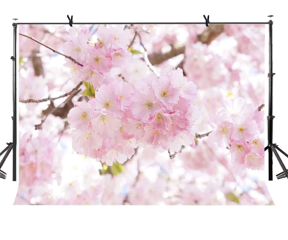 7x5ft Blurry Backdrop Bright Flower Blurred Photography Background and Studio Photography Backdrop Props