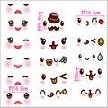 Súper kawaii Emoji sonríen Pegatina 16*9 cm lindo pegatinas portátiles para habitación de los niños DIY pegatinas de pared para niños juguetes del bebé de la navidad regalos