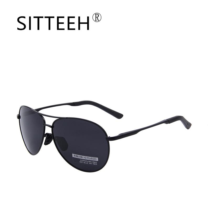 988c11477f7 SITTEEH Sun glasses Classic retro metal frame polarized Pilot driving night  vision goggles travel sunglasses for