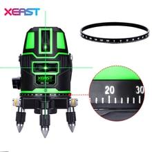 XEAST Green Laser Level 5 Linien 6 Punkte XE-11A Tilt Funktion 360 Rotary Fließe Outdoor Corss Linie Werkzeuge