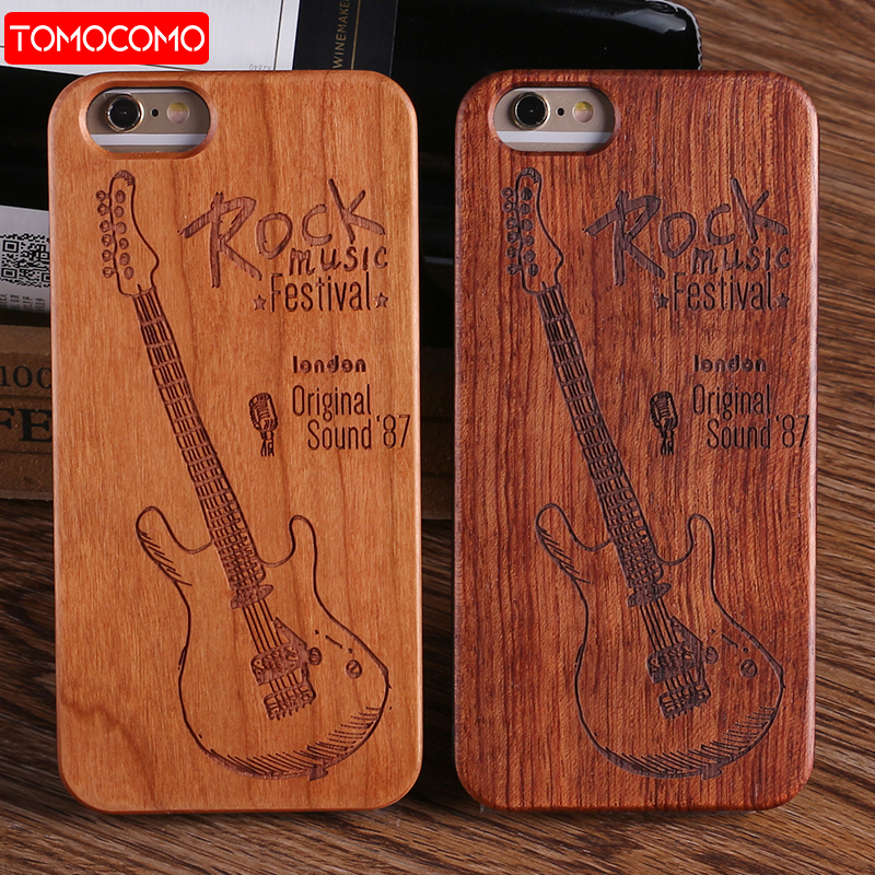 TOMOCOMO Real Bamboo Stereo Pattern Wood Case For iPhone 7 6Plus 8 8Plus Case Coque Phone Accessories For SAMSSUNG S8 Plus S9