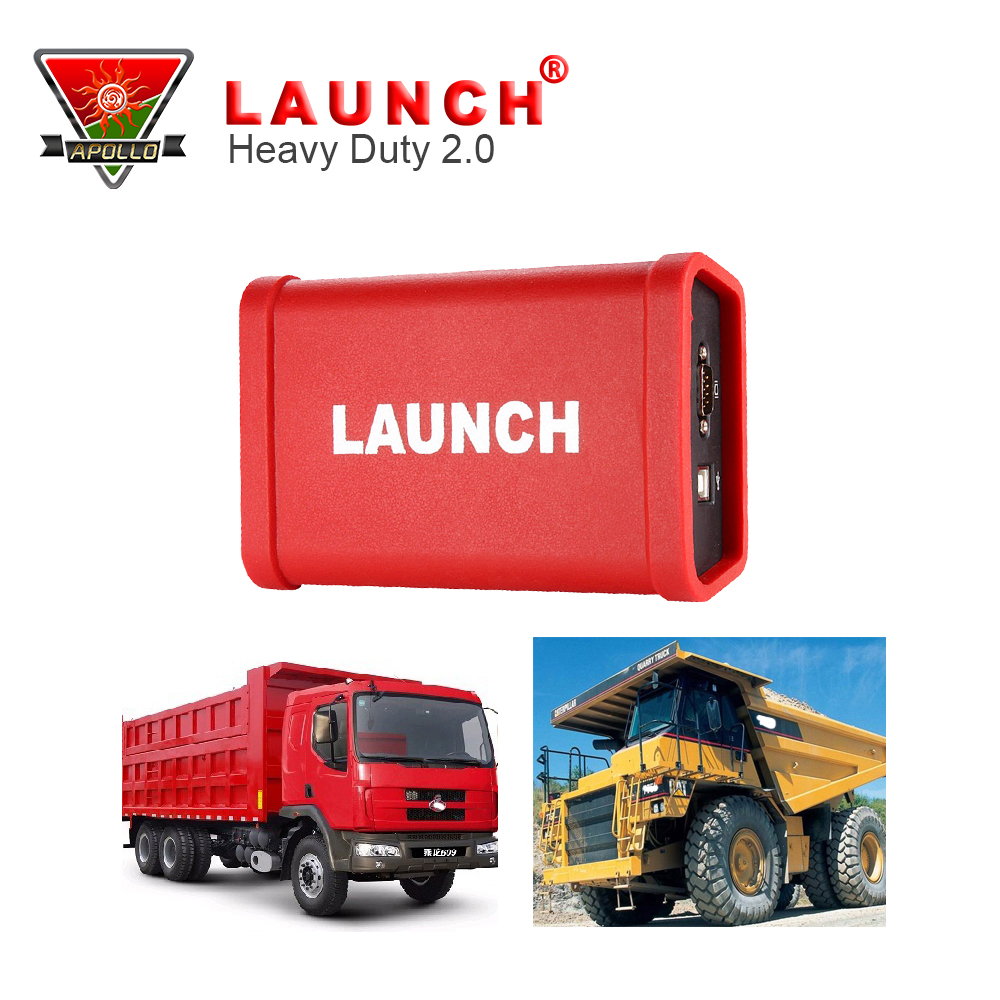 Запуск X431 сверхмощный адаптер Коробка сканирования инструменты для 12-24 В тяжелый грузовик один года бесплатного обновления