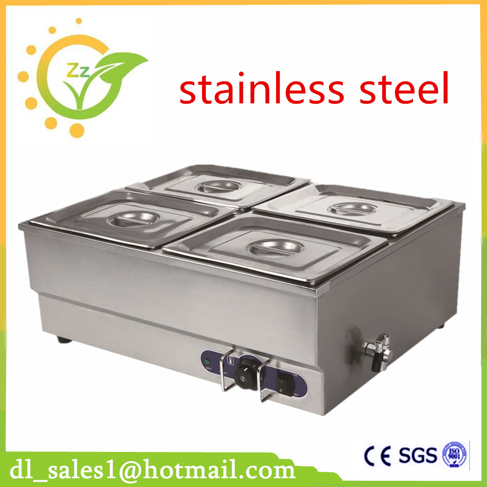 Brand New 220V Electric Stainless Steel Bain Marie With 4 pots for commercial kitchen Food Warmer pool 6 4 4m bounce house combo pool and slide used commercial bounce houses for sale