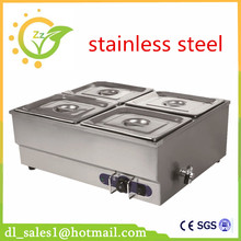 Brand New 220V Electric Stainless Steel Bain Marie With 4 pots for commercial kitchen Food Warmer