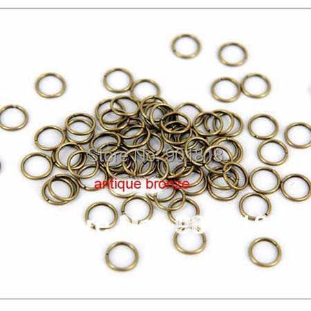 5mm 200 stks/zak groothandel gunblack/Goud/Zilver/Brons/rose gold/Rhodium Kleur Ringetjes voor DIY Sieraden Maken Bevindingen F309C