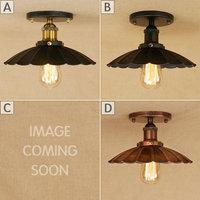 Loft Vintage Ceiling Lamp Retro Ceiling Light Industrial Design E27 Edison Bulb Antique Lampshade Ambilight Lighting Fixture