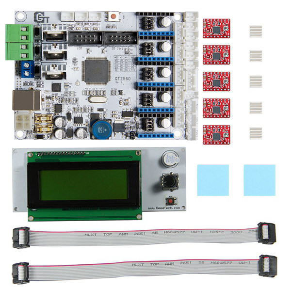 Free Shipping factory directly selling 3D Printer Motherboard 1x GT2560 board +5x  A4988 Driver +1x LCD2004 control board Kit