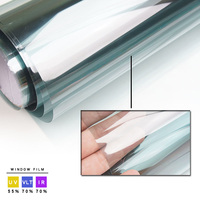 70 VLT Car Front Tint Solar Film Light Blue 76x100cm Roll Side Windshield Workable
