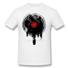 Melting Vinyl Record men's t-shirt