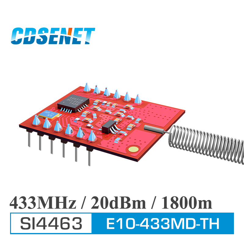 bilder für 2 Teil/los Original CDSENET SI4463 E10-433MD-TH 433 MHz 20dBm Long Range 1,8 km Drahtlose Trasceiver Modul