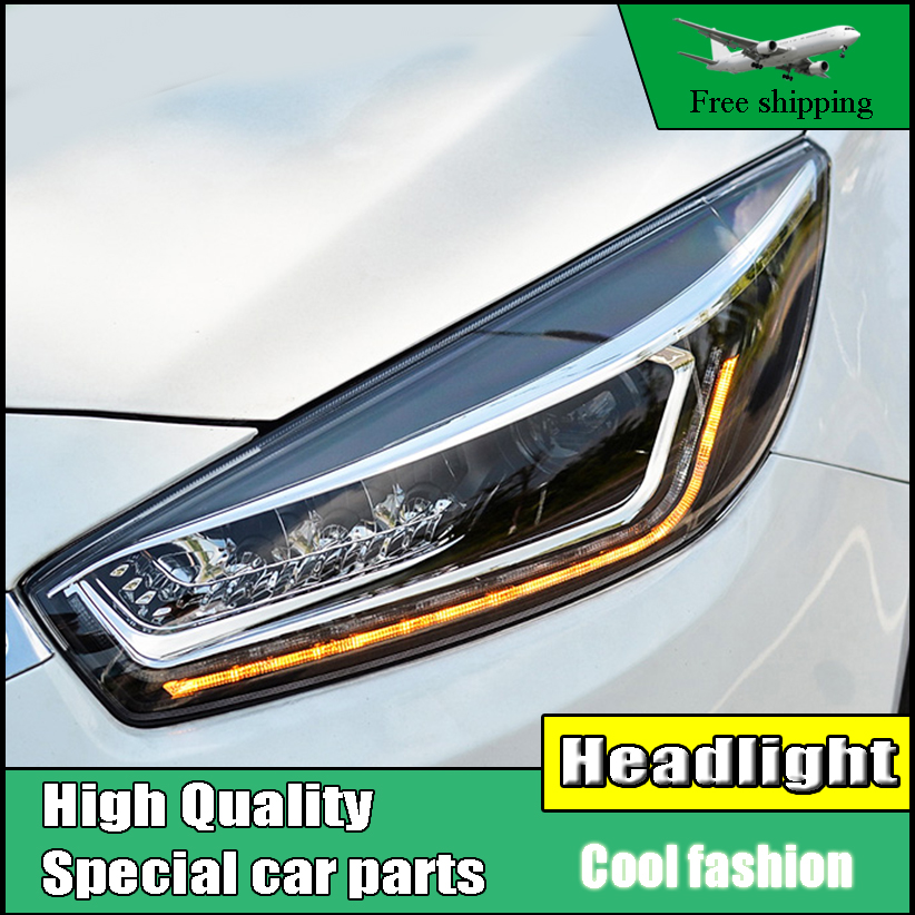 Car Styling Head Lamp For Chevrolet Cruze headlights 2015 2016 LED headlight DRL Bi-Xenon Lens xenon HID Low Beam LED High Beam akd car styling for kia k2 rio headlights 2011 2014 korea design k2 led headlight led drl bi xenon lens high low beam parking