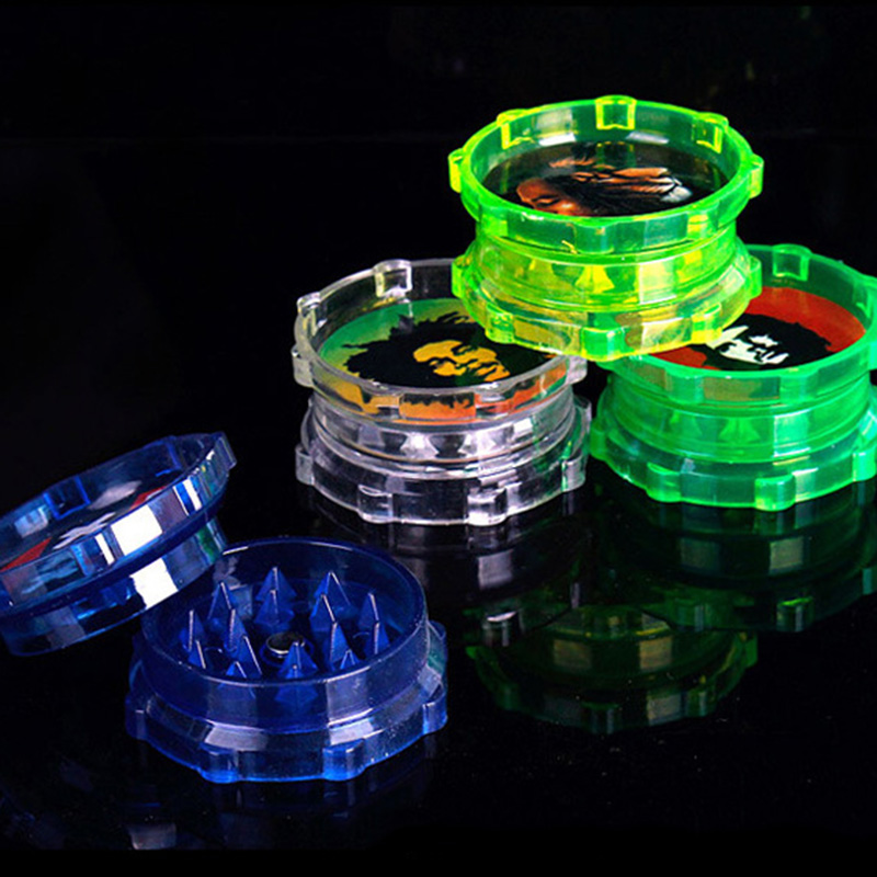 480pcs/lot high quality 4 color Tobacco Grinder 2 layer Plastic smoke detector pipe tool christmas gift herb grinder amoladora