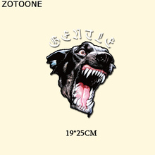 ZOTOONE Embroidery Letter Animal Patch Iron On Transfer Wolf Patches For Clothes DIY T-shirt Dress Stickers Appliqued Heat Press