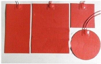 La placa calefactora de goma de silicona de cama caliente de la impresora 3D se puede personalizar la potencia, el tamaño