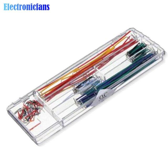 140 adet/grup U Şekli Kalkan Lehimsiz Breadboard bağlantı kablosu Teller Arduino Kiti En Iyi Kalite