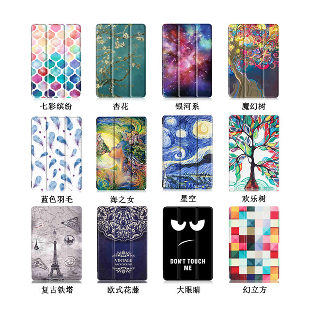 MDFUNDAS Colorful Painted Tri-folding Tablet Case  Cover For Asus Zenpad 10 Z301MFL Z301ML Z300C Z300M Z300CL + Protective Film asus zenpad 3s 10 z500m tablet pc