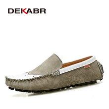 Estilo de Los Hombres de Los Holgazanes Planos de Los Hombres Respirables Suaves Bullock DEKABR Fresco Clásico Antideslizante Conducción Mocasines Zapatos Casuales Tamaño de Los Hombres 39-44