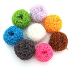 2pcs/lot Magic Clean ball Fiber Sponges Scouring Pads Home Kitchen Gadgets Wash Cleaning Tool Homeware Item Accessories Supplies(China (Mainland))