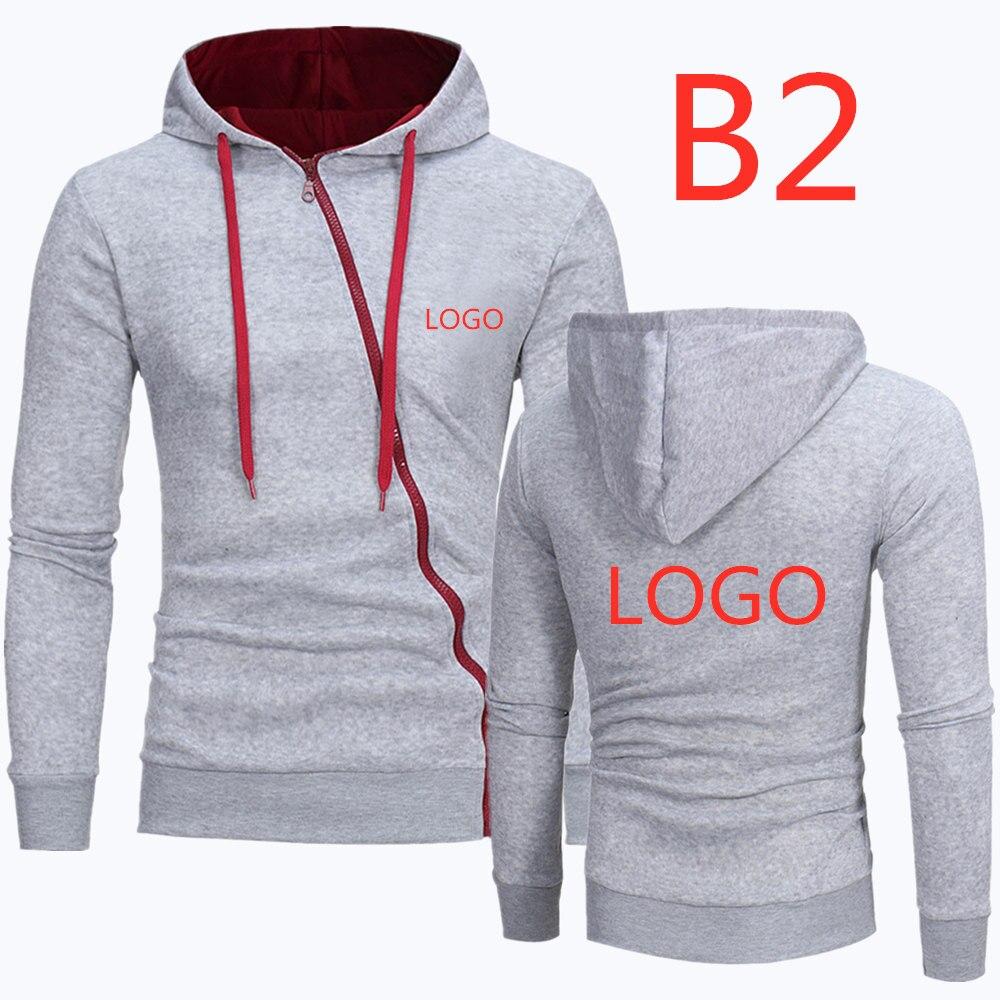 B2 2019 For Men's Leisure Hoodies Zipper Diagonal Man Classic Hoody Male Popular Hoodies Men's Print Pattern Sweatshirts Jackets