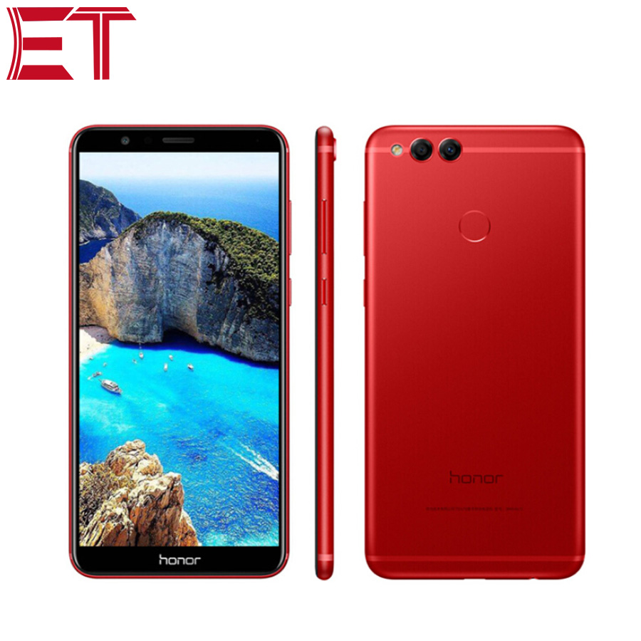 Brand New Honor 7X Cellphone 4G LTE Mobile Phone 4GB RAM 128GB ROM HiSilicon Kirin 659 Octa Core Android 7.0 Full Screen 5.93""