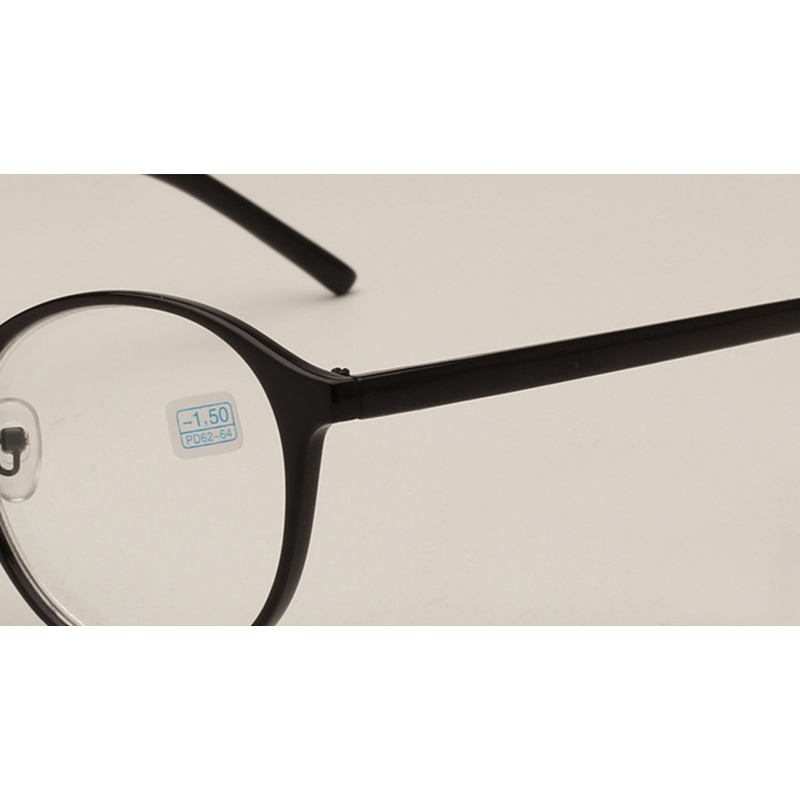 Vintage Women Finished Myopia Glasses Men Retro Black Round Shorted Sighted Spectacles Student Nearsighted Eyeglasses 1 to 4 L3 in Women 39 s Reading Glasses from Apparel Accessories