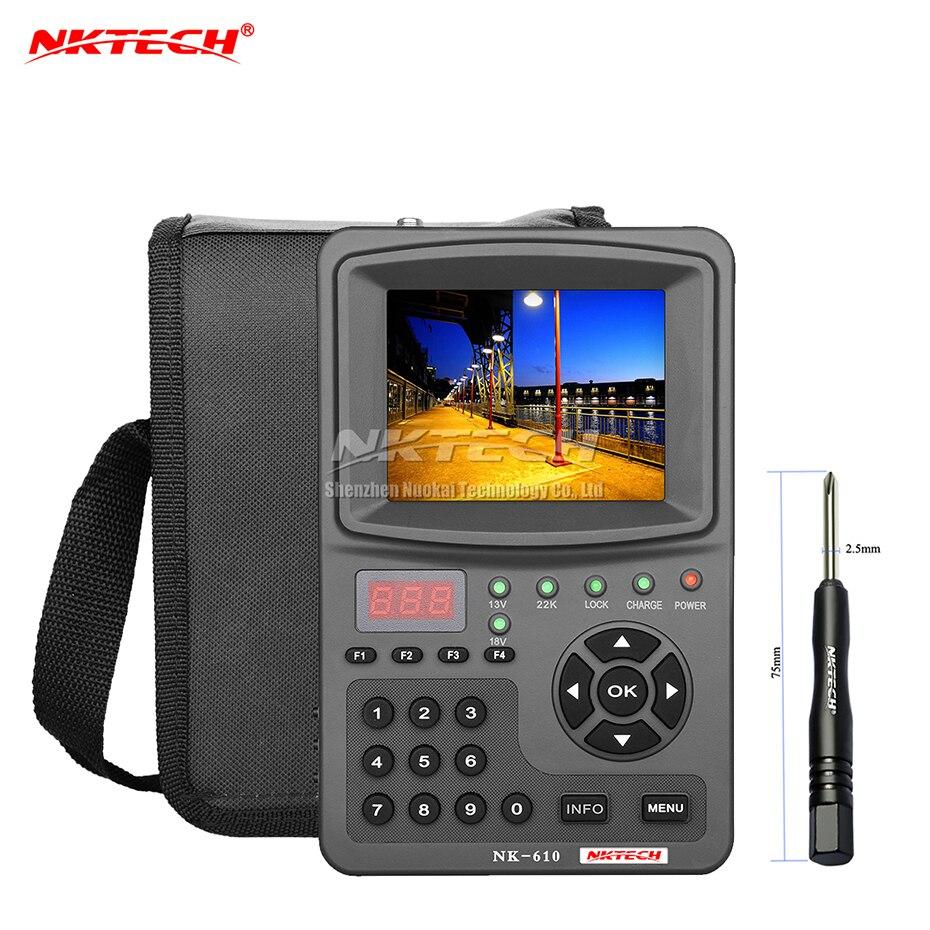 NKTECH HD numérique Satellite TV Signal Finder NK-610 CCTV caméra moniteur testeur caméras analogiques vidéo Audio Test 1080 P 3.5