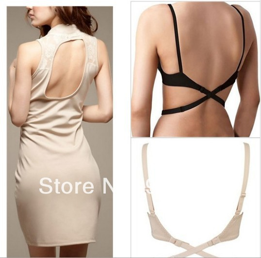 1d36322744 Hot Sell extendable low back bra strap Adapter hook as adjustable sexy  backless bra belt AS