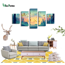 Cartoon Inset Balloon Canvas Wall Art Print Home Decor For Living Room Modern Decorative Pictures 5 Piece Large Poster HD