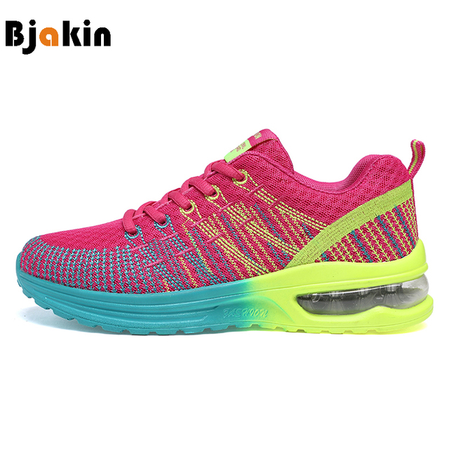 Bjakin Women's Sneakers Breathable Cushioning Women Running Shoes Breathable Wave Sports Shoes for Jogging Walking Female