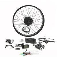 LOVAGE Fat BIKE 48V 500W Motor Wheel Bike Kit 26 Inch Rear Wheel Motor Brushless Gear Hub Electric Bicycle Conversion Kit
