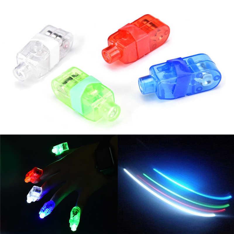 Luz Fluorescente anillo dedo lámpara Led intermitente concierto accesorios luz Led juguetes para niños