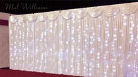 10ft*20ft startlit Wedding Backdrop with Led Lights