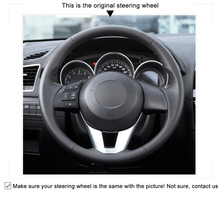 High quality Black Artificial Leather anti-slip customized car steering wheel cover For Mazda 3 Axela 2013-2016 Mazda 6 Atenza 2 цена
