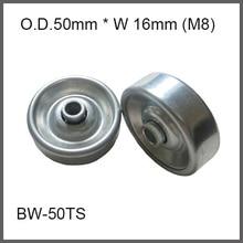 """2"""" O.D. Steel Conveyor Belt Wheel with Bearings for 8mm shaft hole Stamping metal wheel skate conveyor wheel fly wheel"""