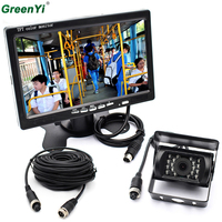 2 in 1 Car Monitor 7 Inch 800*480 Color TFT LCD Car Rear View Rearview Monitor+Backup Reverse Parking Camera For Bus Truck