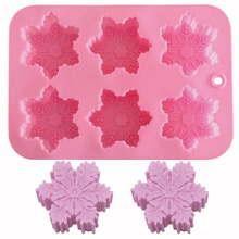 Snow cake mold 6 even pan modeling silicone rubber baking tool