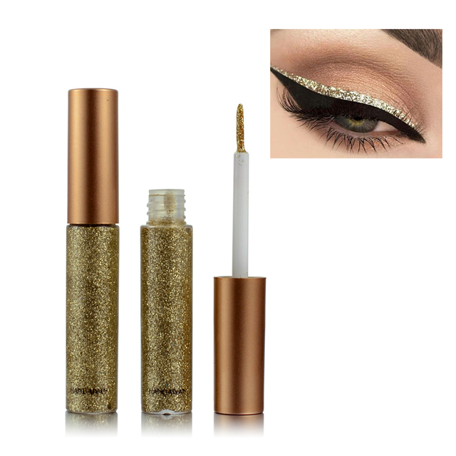 New Shimmer Glitter Eyes Liner For Women Make Up Easy to Wear Waterproof Pigment Red White Gold Liquid Eyeliner Glitter Makeup 4