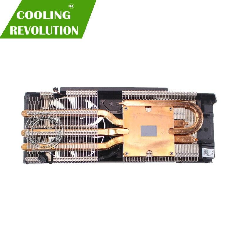Nouveau Original pour EVGA GEFORCE GTX 1060 ACX3.0 ventilateur refroidisseur de carte graphique avec dissipateur de chaleur