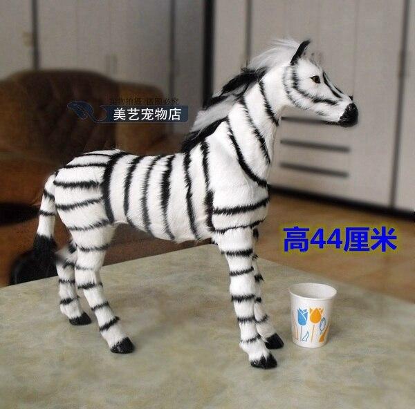 simulation zebra 45x10x44cm model,polyethylene& fur handicraft toy home decoration Xmas gift b3752 new big simulation wings pigeons toy polyethylene
